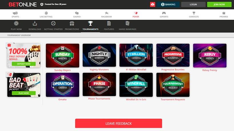 BetOnline Poker Page