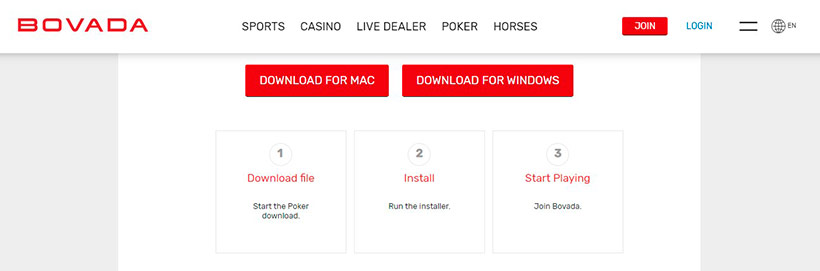 Bovada Poker Software