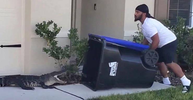 Eugene Bozzi makes fun of Ben Simmons after capturing alligator