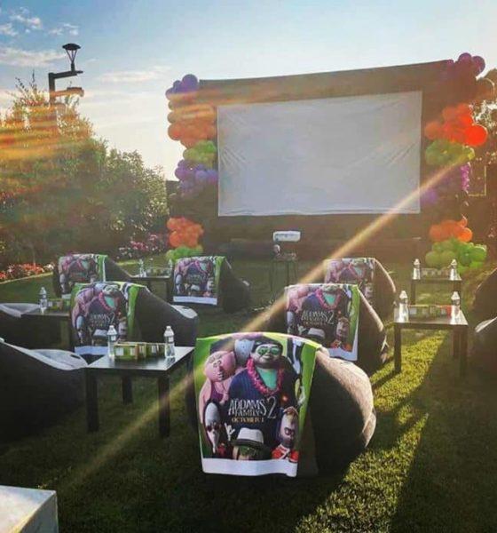 LeBron James builds Halloween backyard movie theater for Zhuri