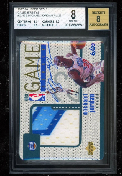 Michael Jordan's signed patch card sells