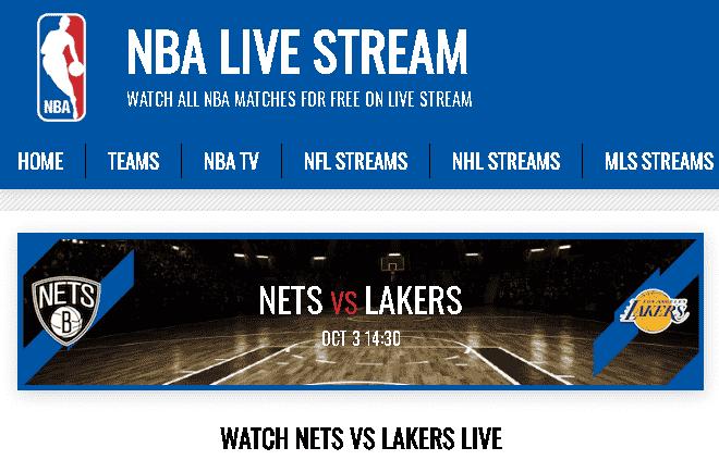 Transmisión en vivo de Nets vs.Lakers