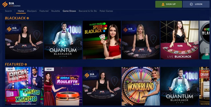 The Canadian Gambling Site Sports Interaction's lobby