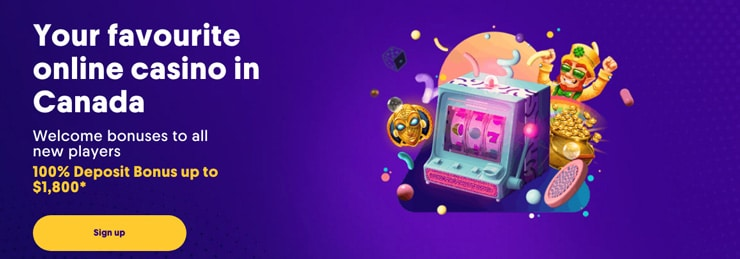Caumo's landing page for Canadian gamblers