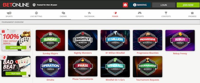 bet online poker promo code