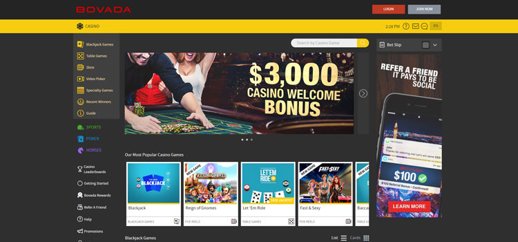 bovada casino arizona homepage
