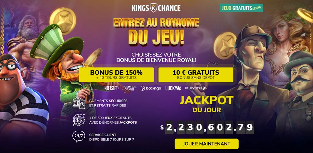 casino kings chance quebec