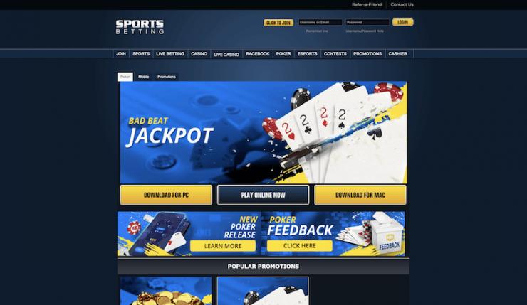 sportsbetting.ag poker
