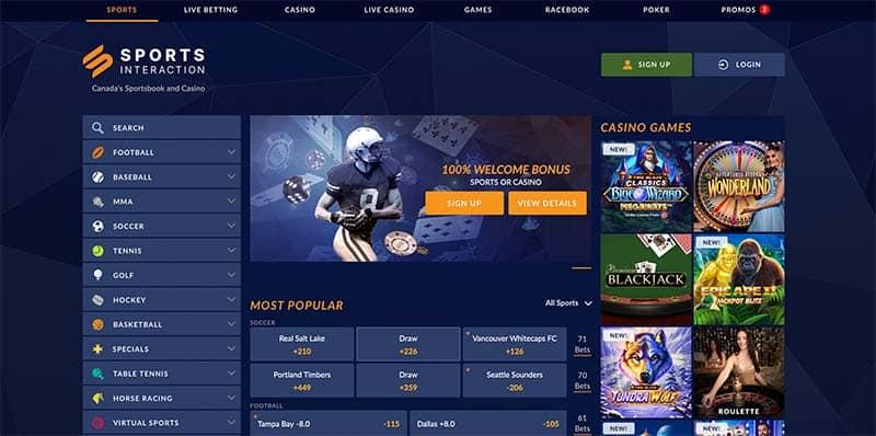sport Interaction site de paris canada